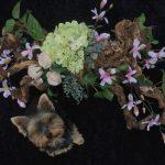 Zijde bloemstuk